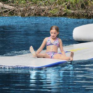 swim raft - boarding platform - tanning raft - on the water fun - water toys canada