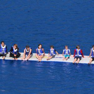 lake - water fun - swim raft - sliding fun - water toys canada
