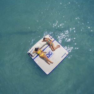 Tanning deck - water raft - swim raft - water toys canada