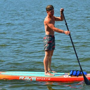 Sunburst Orange Shoreline SUP - Rave Stand Up paddle board - water toys canada
