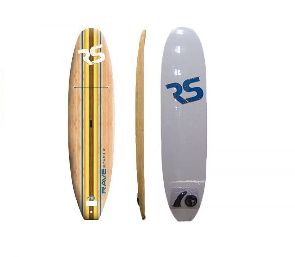 10'8 SUP - Rave Bamboo soft top SUP with paddle - water toys canada