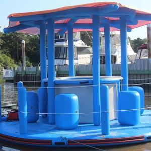 floating island - floating bar - motorized island - water toys canada