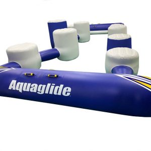 Aquaglide I-Hop 20, challenge track component, water balance, water obstacle