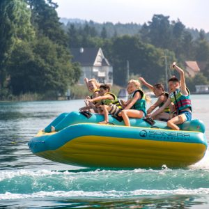 Spinera Race Car, towable tube, water fun