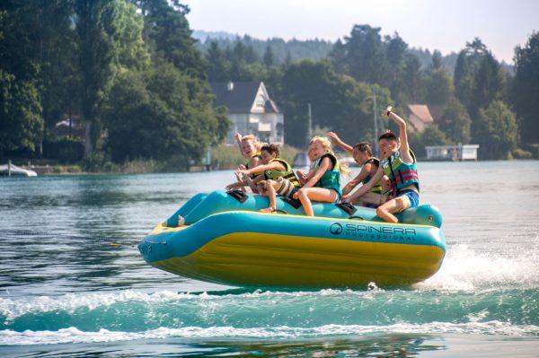 Spinera Race Car, towable tube, water fun